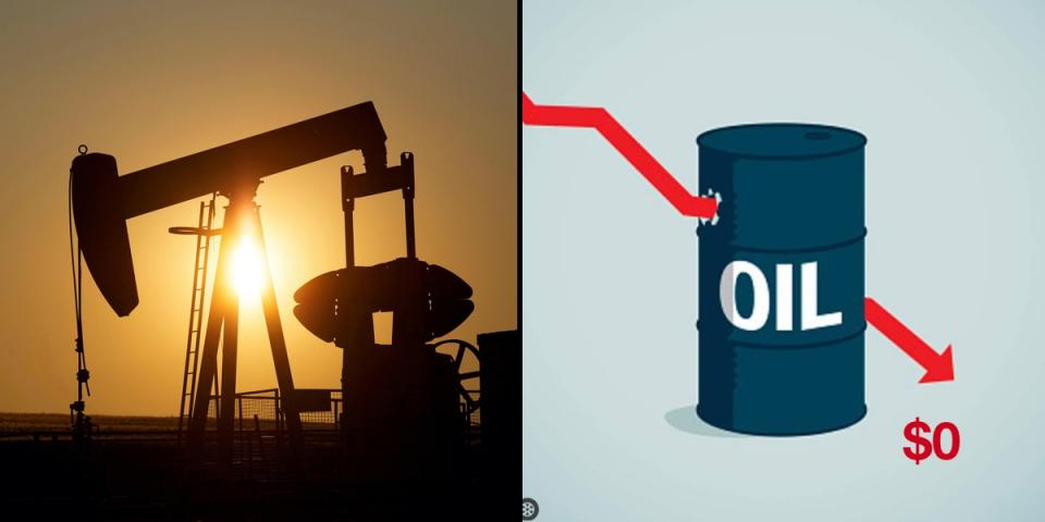 Oil price crashes; falls below $0.   BEAMSTART News