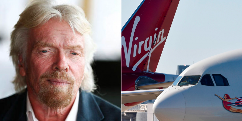 Richard Branson's Virgin Atlantic files for bankruptcy as airline industry collapses.
