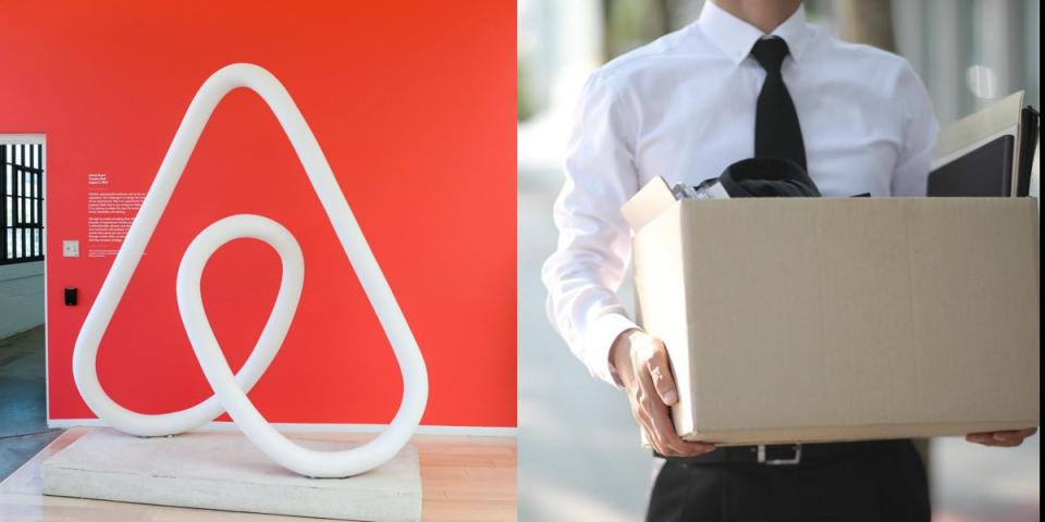 Airbnb cuts 25% of staff; around 1900 people.