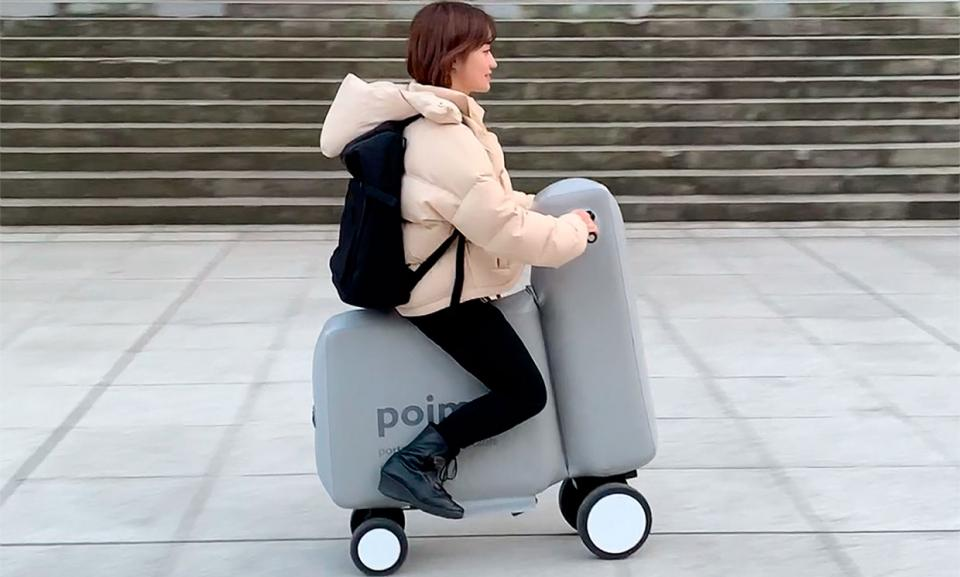 Japan made an inflatable e-scooter; and it fits in a backpack.
