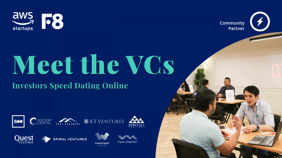 Raising funds? AWS & Found8 are hosting a 1-on-1 VC matching event for startups. | BEAMSTART News