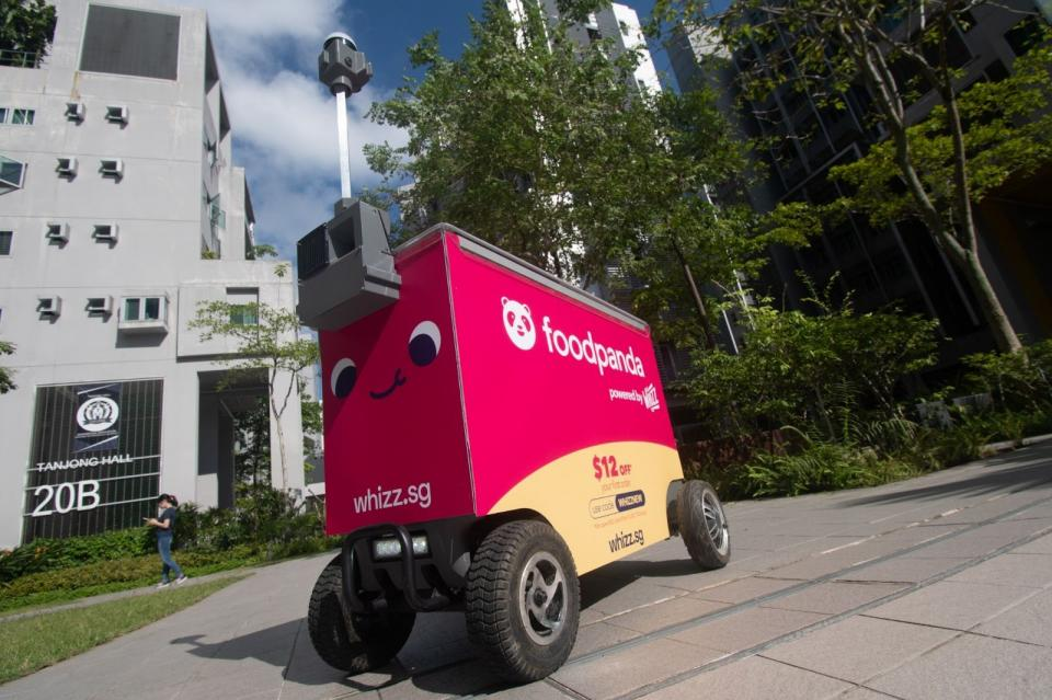 Foodpanda is testing robot deliveries; partners with 3 autonomous robot startup companies | BEAMSTART News