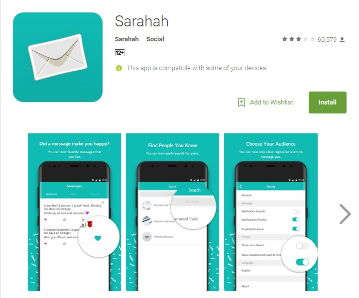 Popular Sarahah App Found To Be Copying Phone Contacts To Server