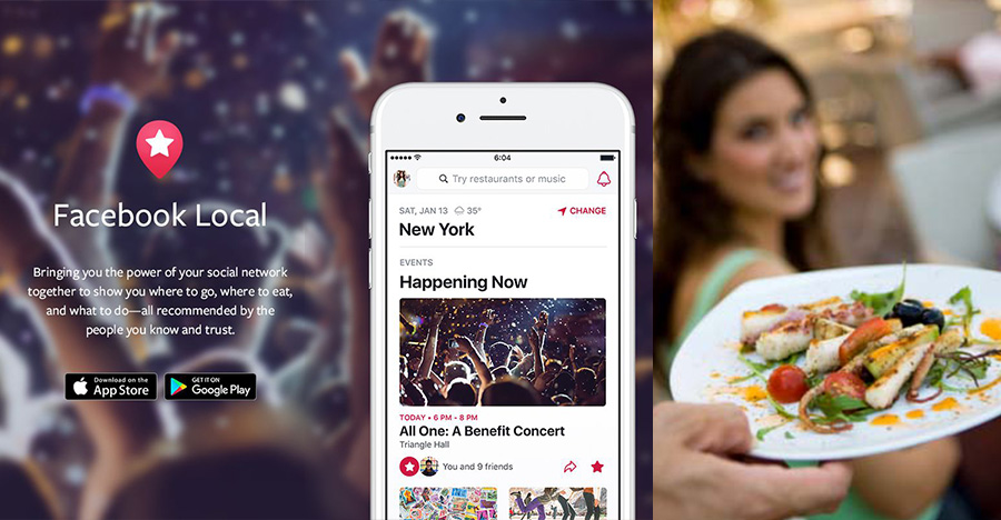 Facebook rebrands Events app to Facebook Local, now includes bars and food | BEAMSTART News