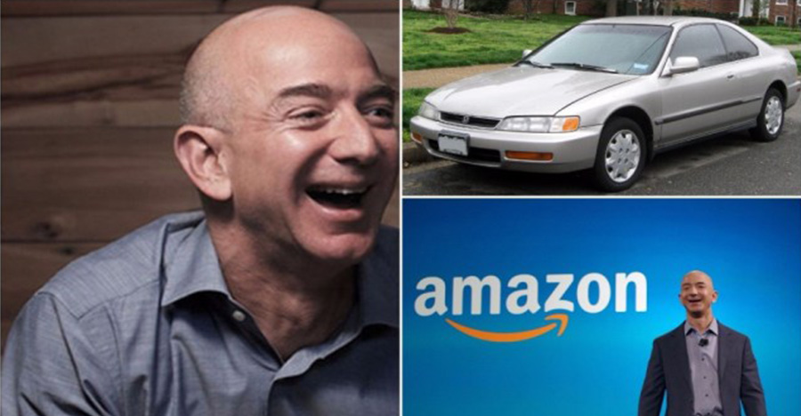 Amazon's Jeff Bezos continued to drive a Honda long after becoming a billionaire — and it reveals why he's so successful
