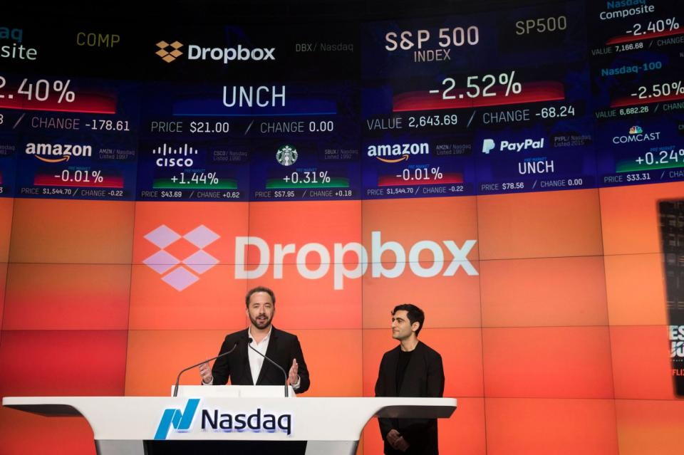 Dropbox finishes up 36% on first day of trading | BEAMSTART News