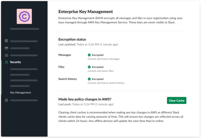Slack hands over control of encryption keys to regulated customers | BEAM