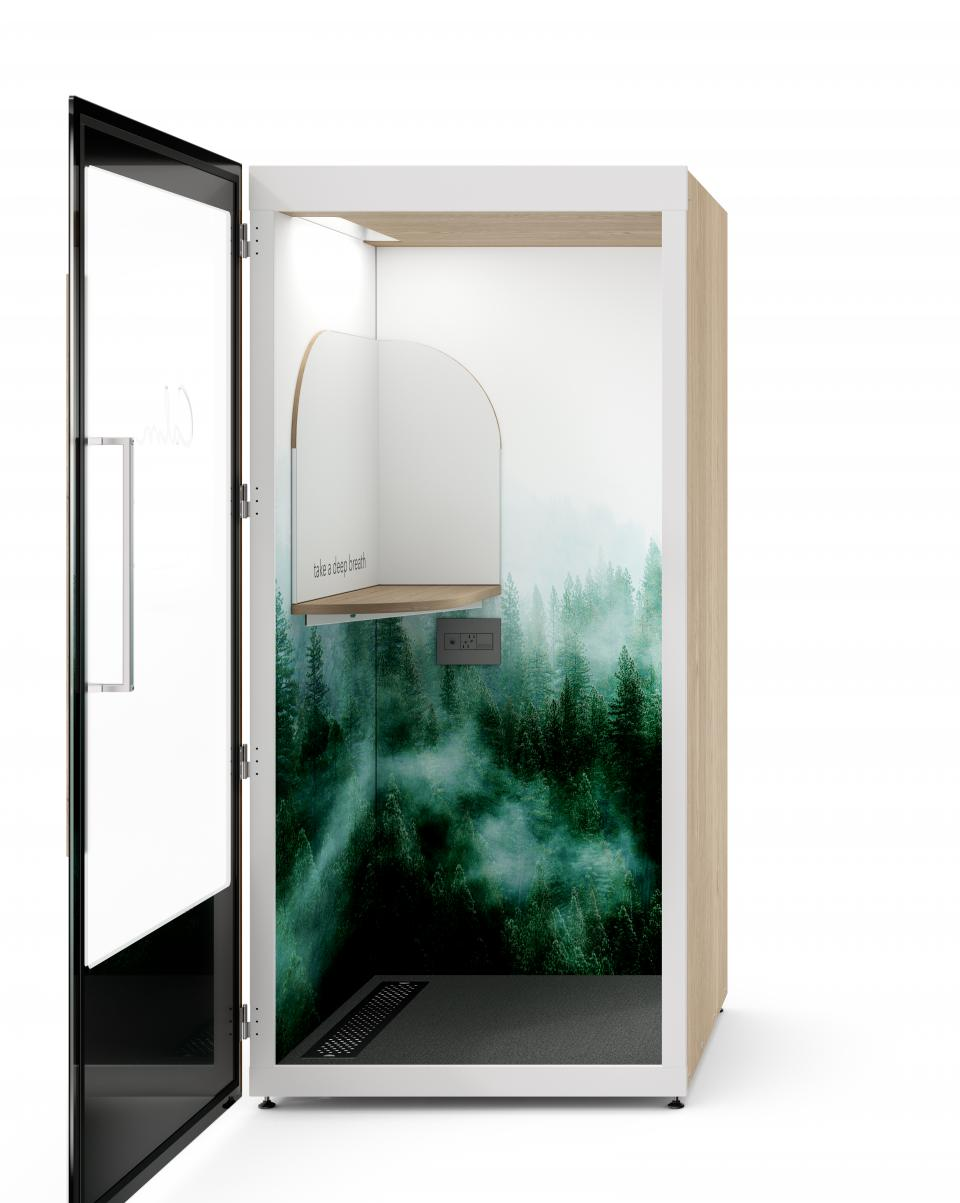 Calm and Room made a $4,000 branded 'meditation booth'