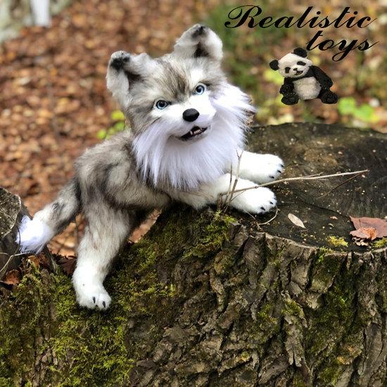 Realistic Wolf Stuffed An By Irina Novoselova Bear Pile