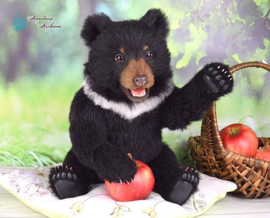 Robin Himalayan Bear By Anastasia Arzhaeva Bear Pile