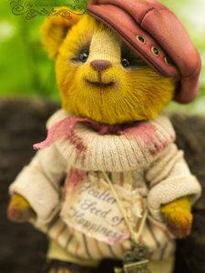 24 centimeters Cheerful bear OOAK Teddy Doll