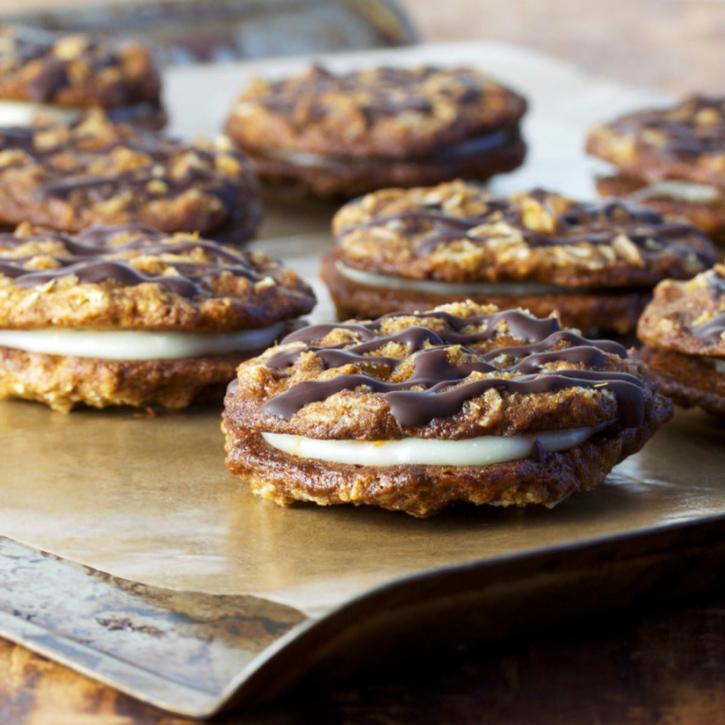 Smitten Kitchen Oatmeal Cookies: Orange-filled Triple Ginger Oatmeal Sandwich Cookies