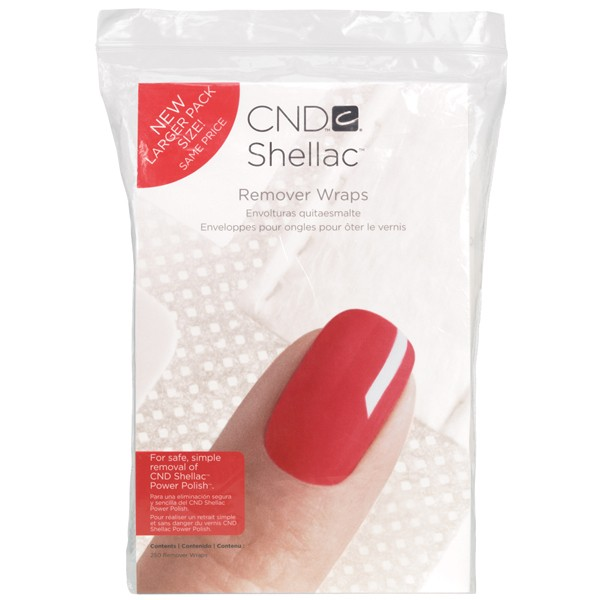 CND Shellac Remover Wraps - 250 Pack