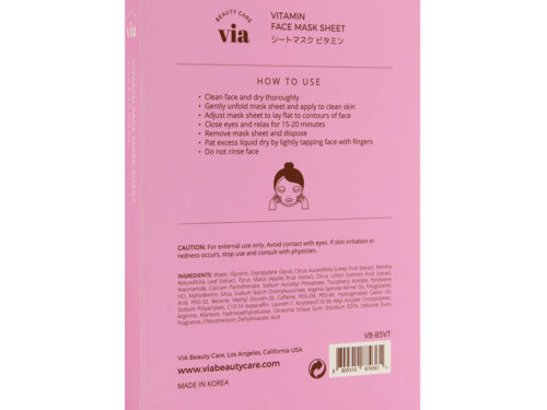Via Beauty Care Vitamin Face Mask Sheet Firming