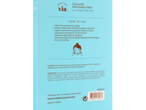 Via Beauty Care Collagen Face Mask Sheet Firming