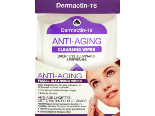 Dermactin - TS Anti-Aging Facial Cleansing Wipes