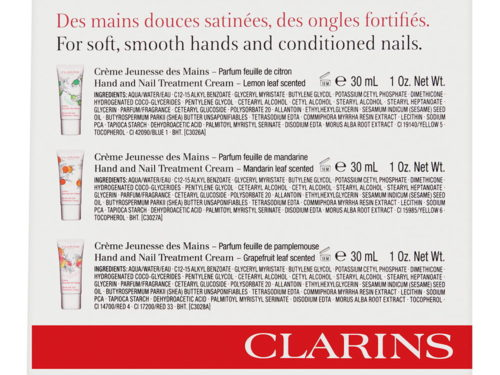 Clarins Hand & Nail Treatment Cream 3 Piece Set