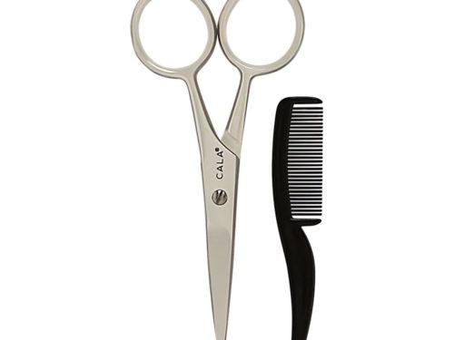Cala Pro Mustache Scissors & Comb