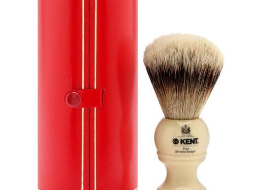 Kent Pure Badger Shaving Brush - Travel Size