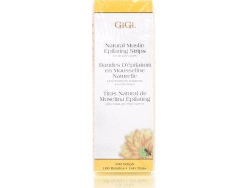 "GiGi Petite Natural Muslin Epilating Strips ( 0.75"" x 4.5"" )"