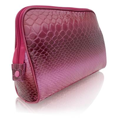 Danielle Electric Croc Large Oval Travel Cosmetic Case