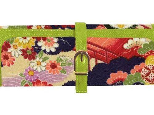 Cris Notti Green Kimono Jewelry Roll