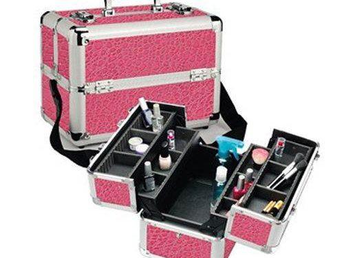 Pink Croc Pro Makeup Case