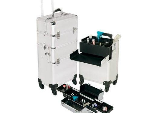 Silver 360 Professional Rolling Makeup Case