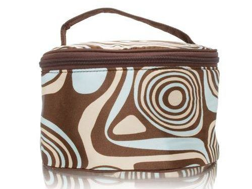 Danielle Tortoise Ovale Train Case with Interior Pockets