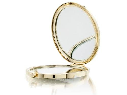 Gold Music Design Mirror Compact