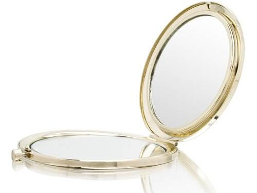 Hearts Gold Mirror Compact