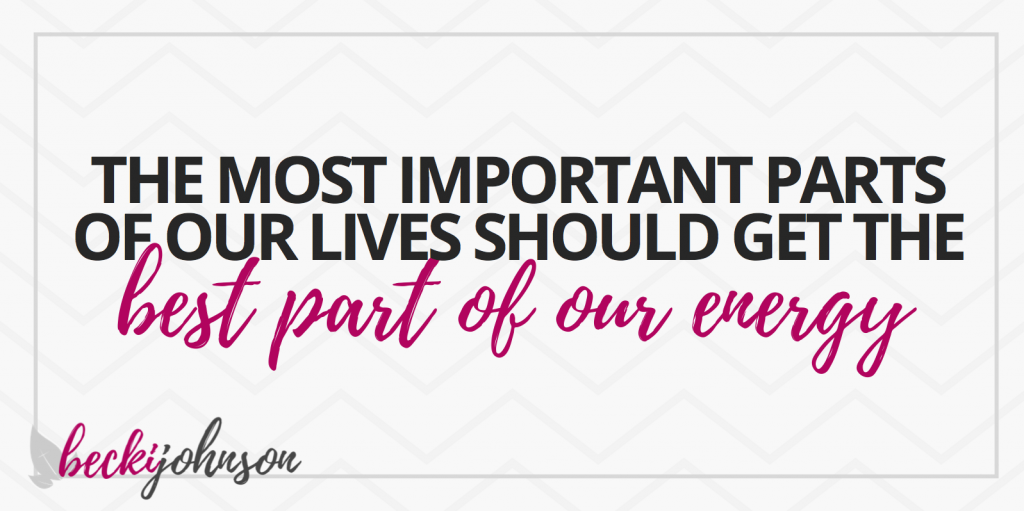 Are you missing out on the best parts of your life | Becki Johnson