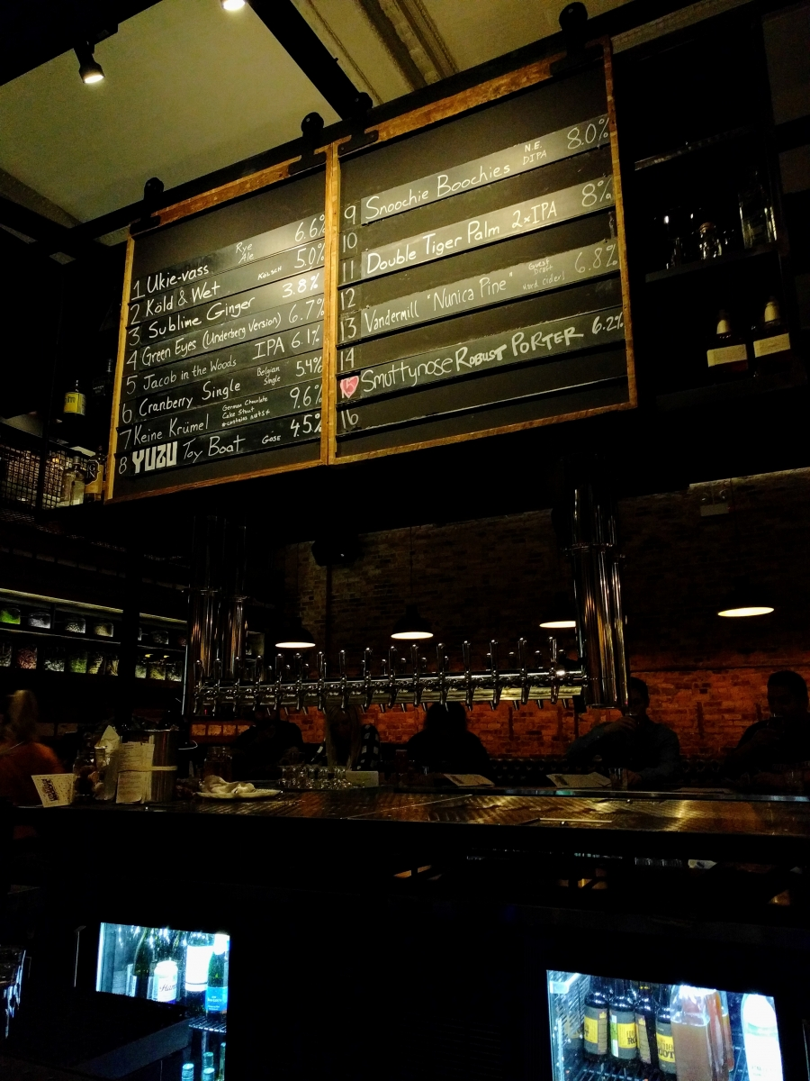 Main bar and taplist
