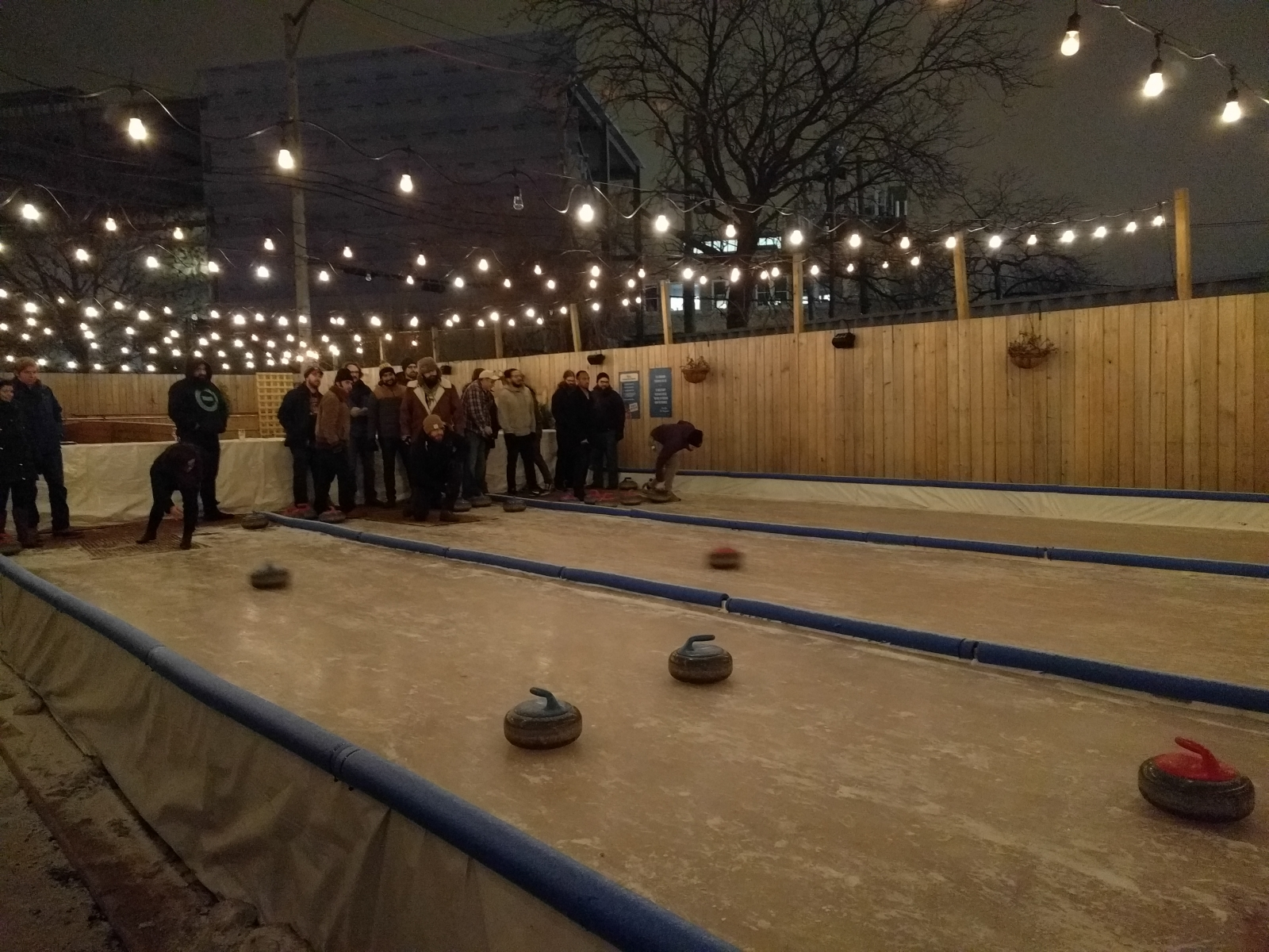 Curling in the winter. Bocce in the summer.