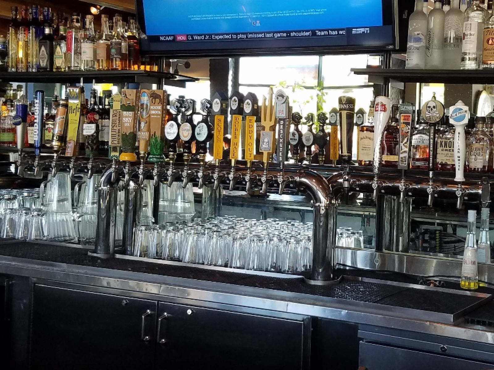 Taps on the bar