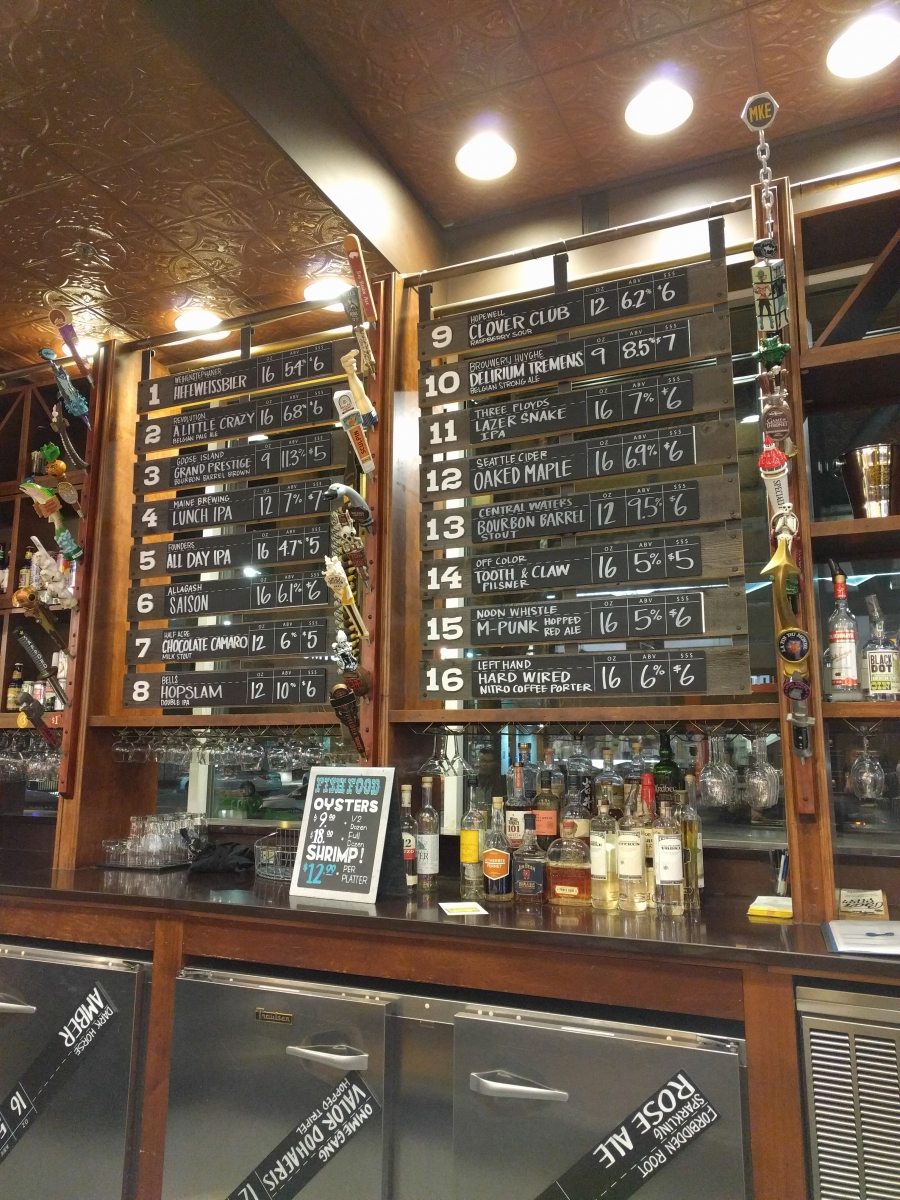 The taps at the 1550 Bar