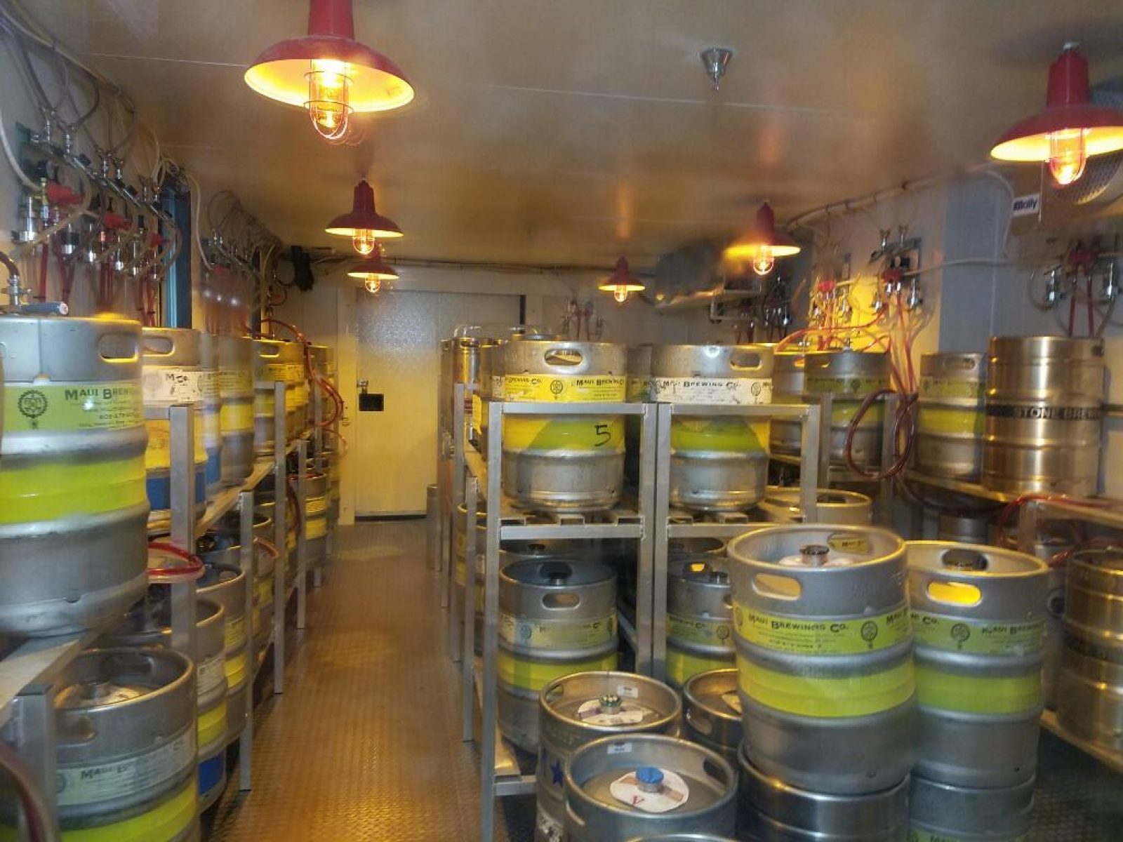 Crowded keg room
