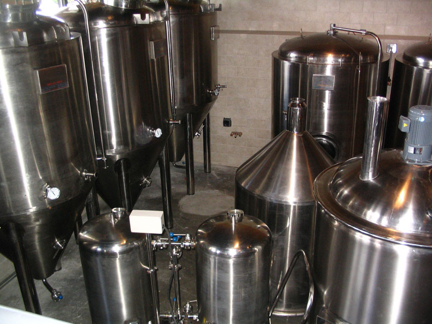 Wild Creek Brewing Company freshly shipped brew kettles, fermenters and other stainless steel beauty