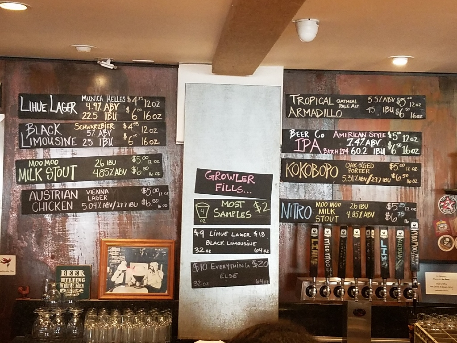 Taps and Brew List 0317