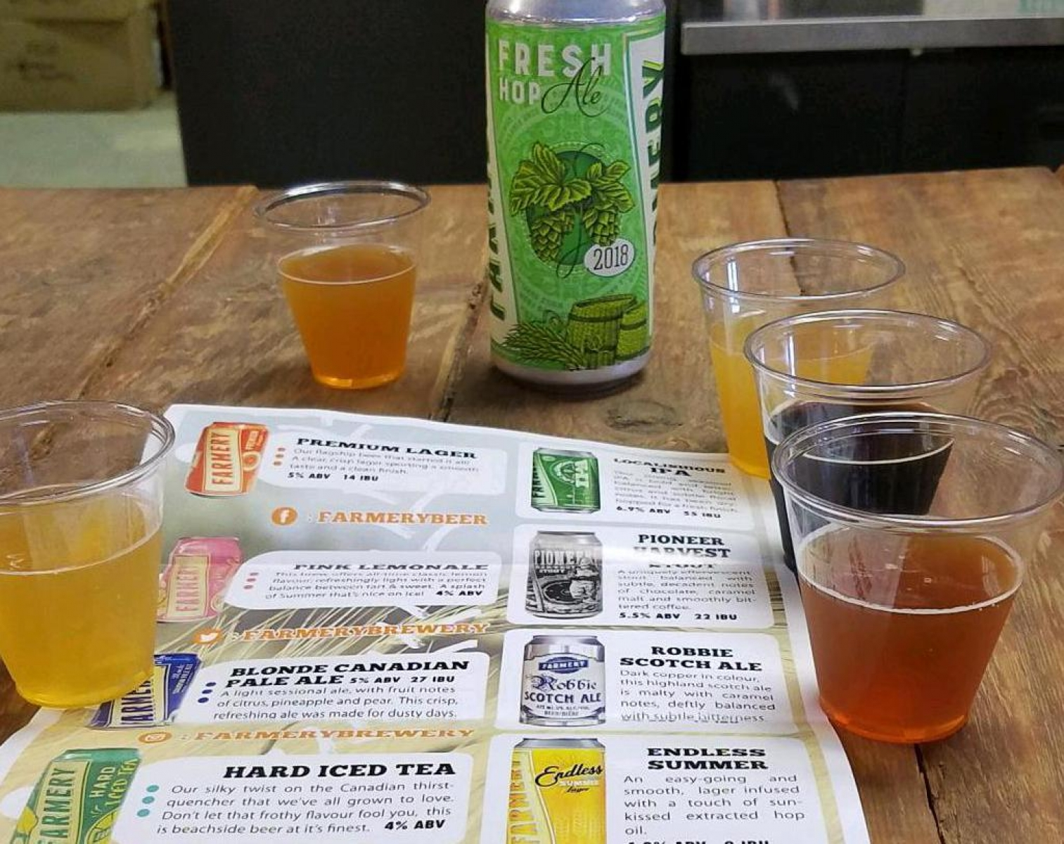Tasting, with Fresh Hop seasonal
