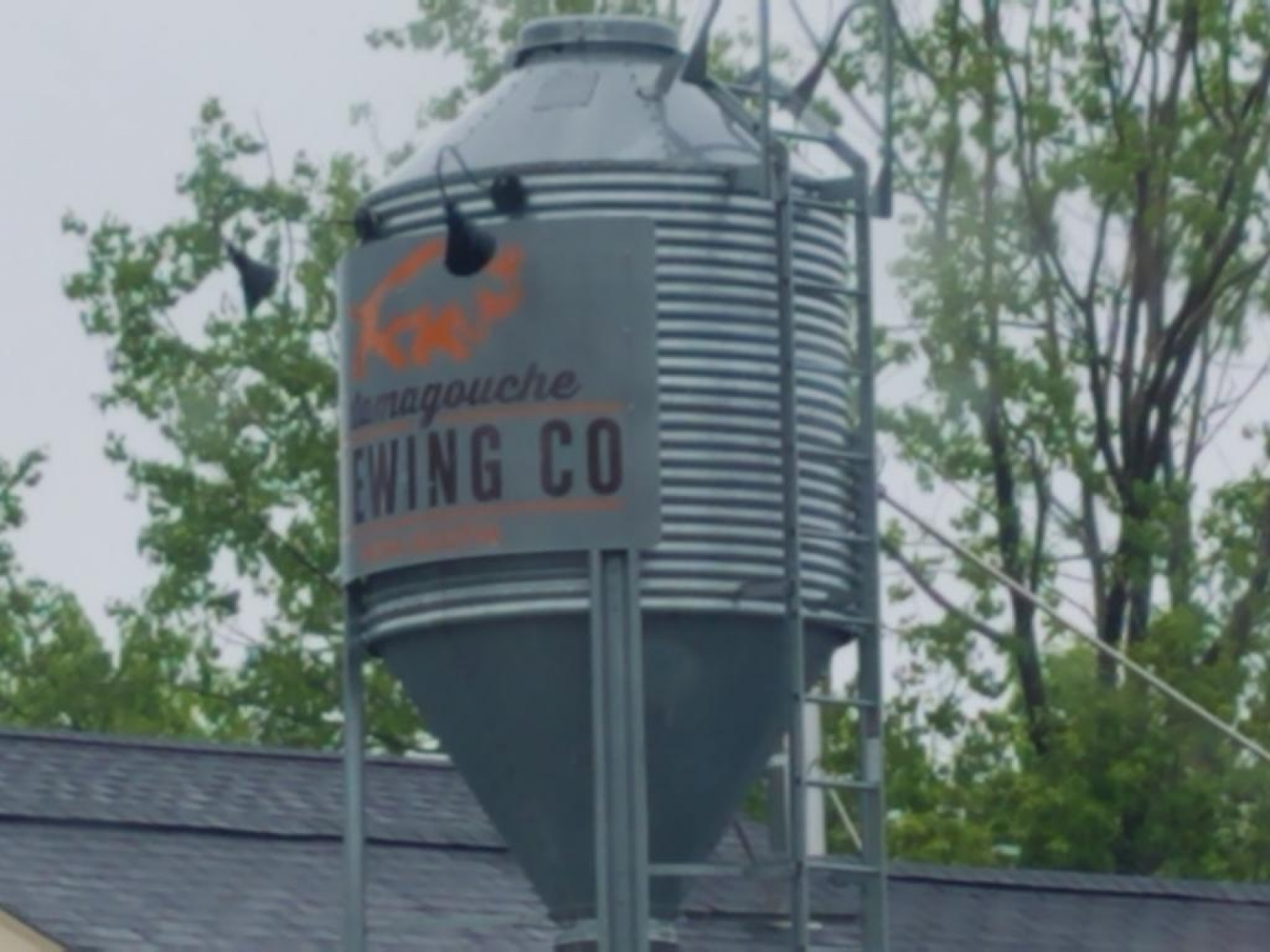 Roof silo sign