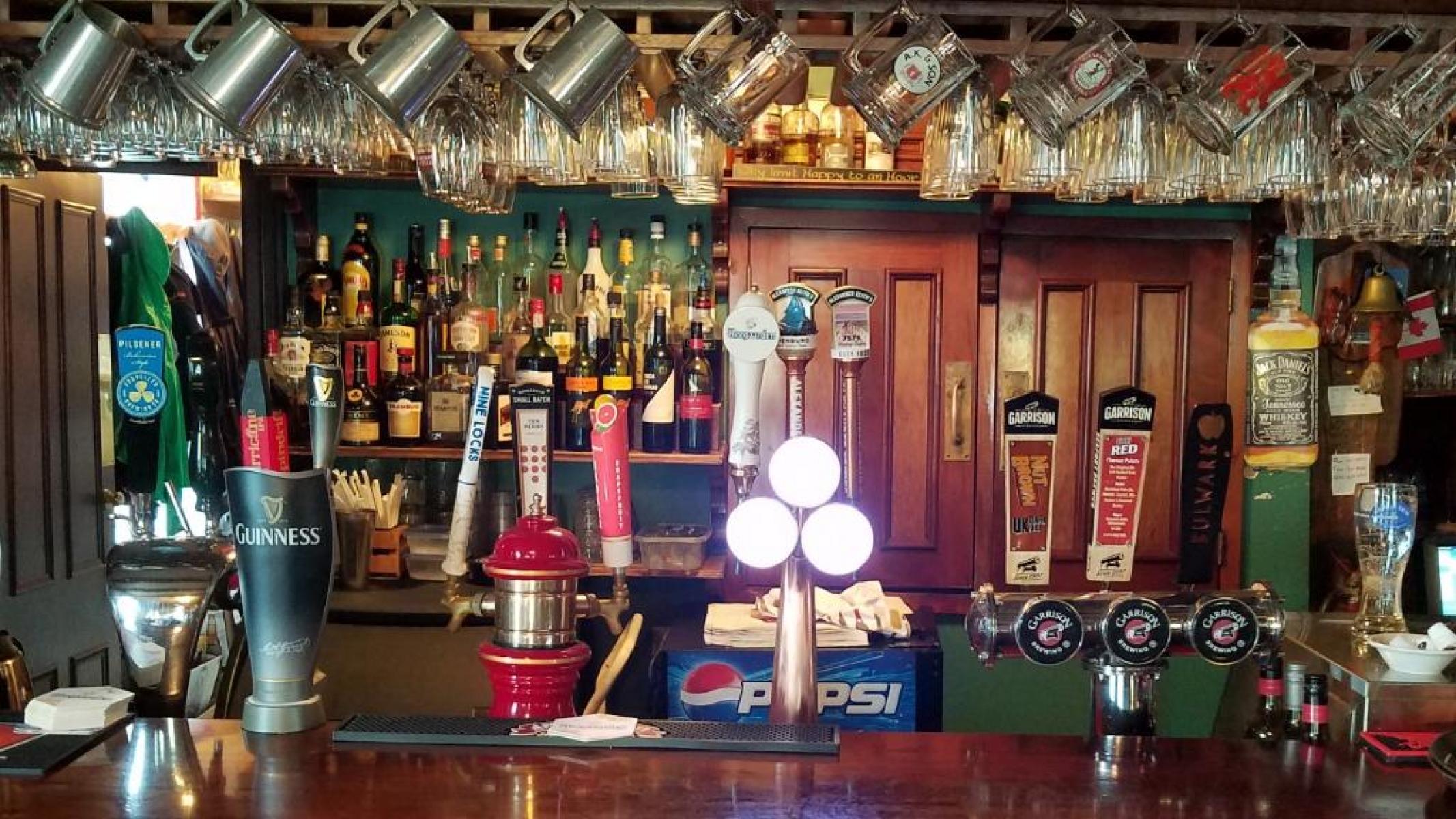 Some taps at bar