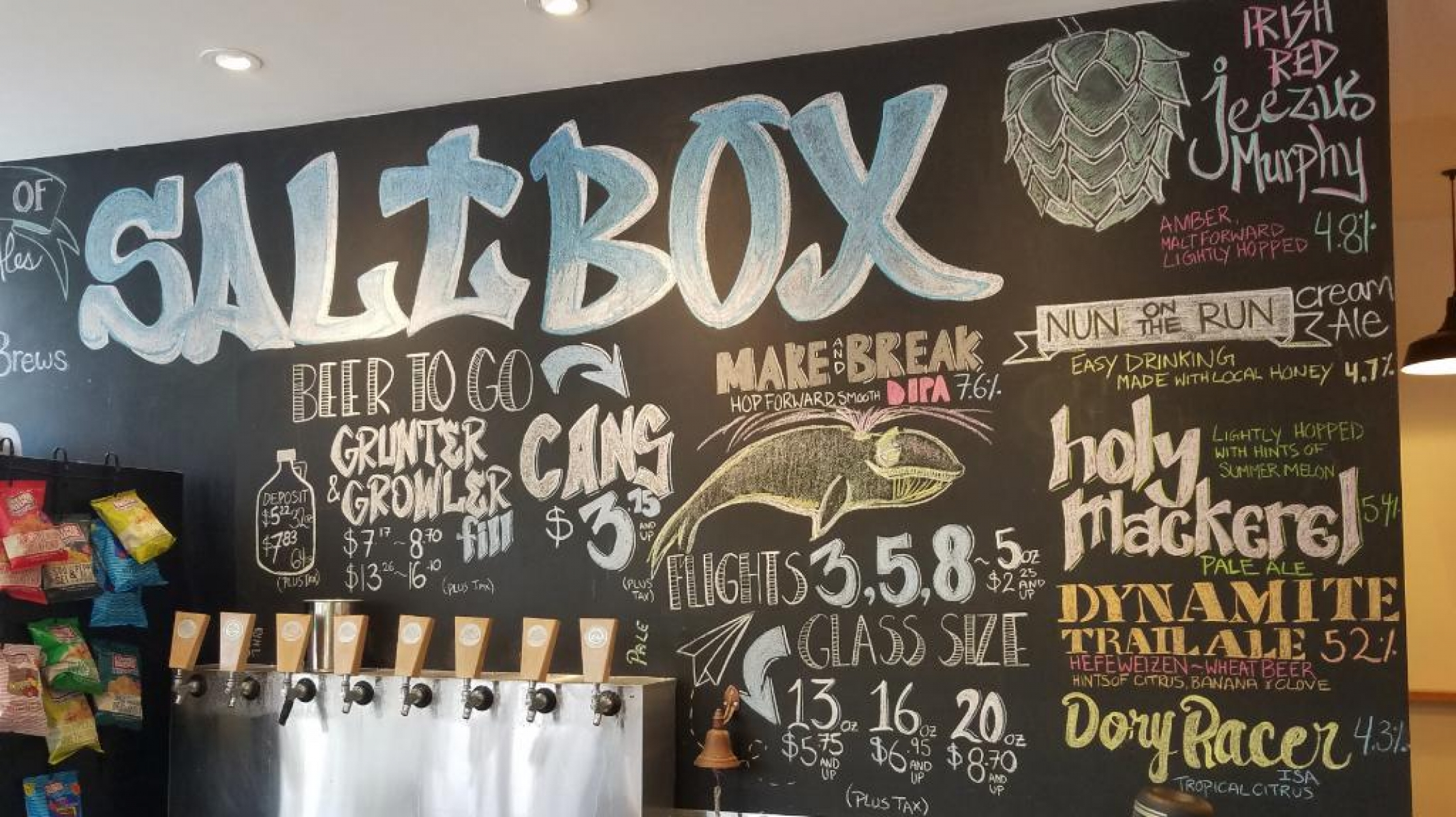 Chalkboard and taps 0619