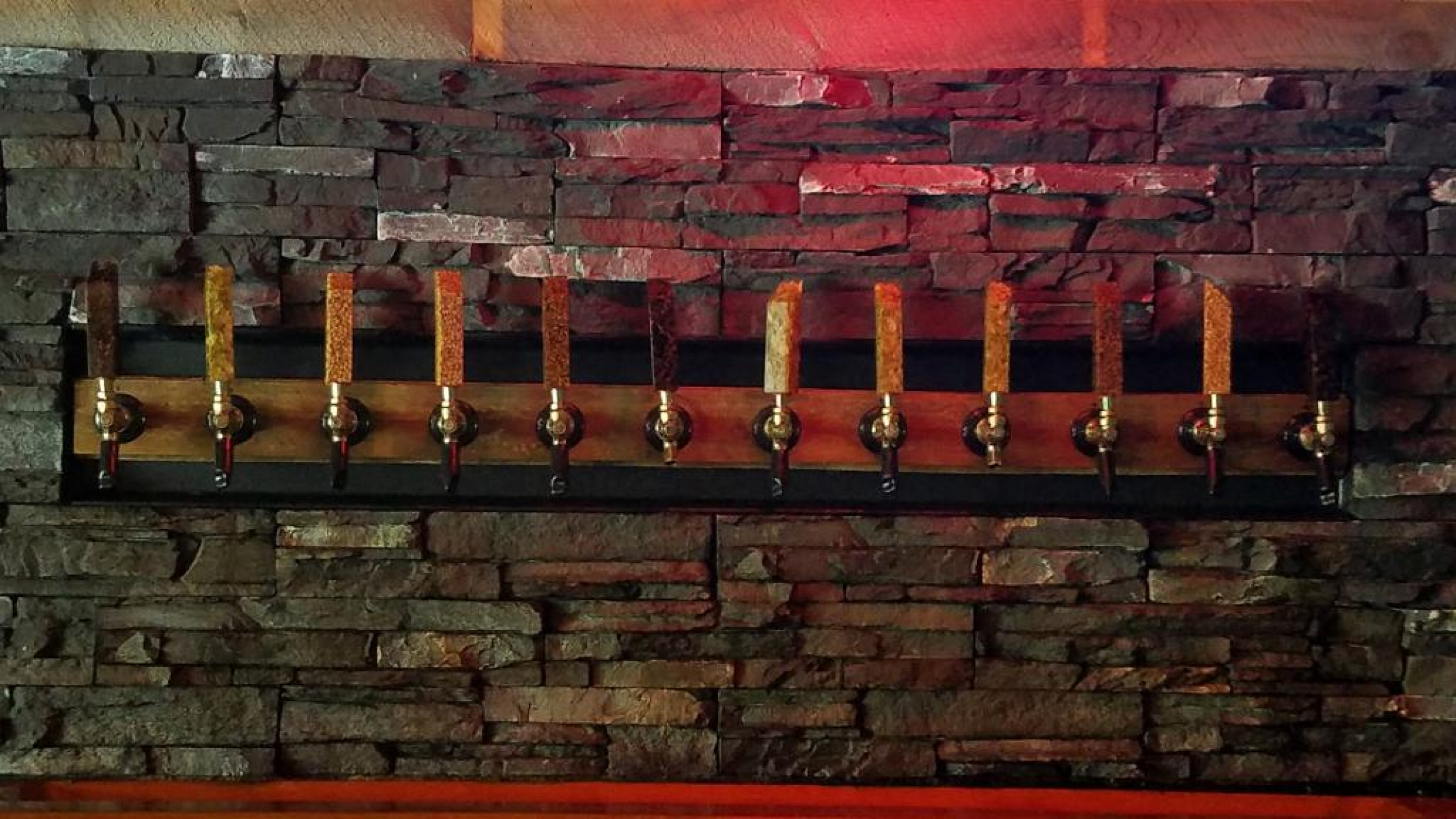 Taps behind bar