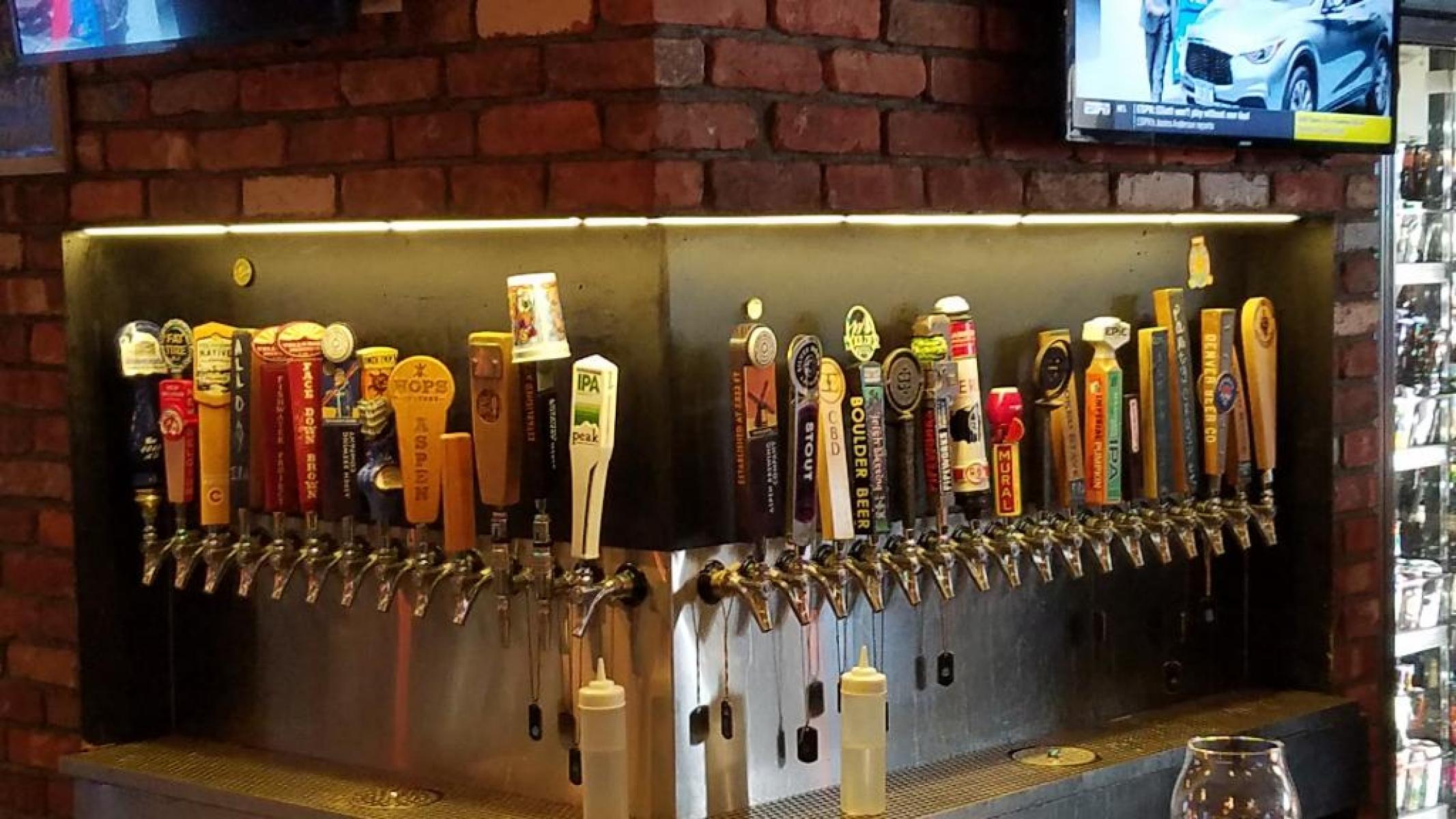 Tap behind bar