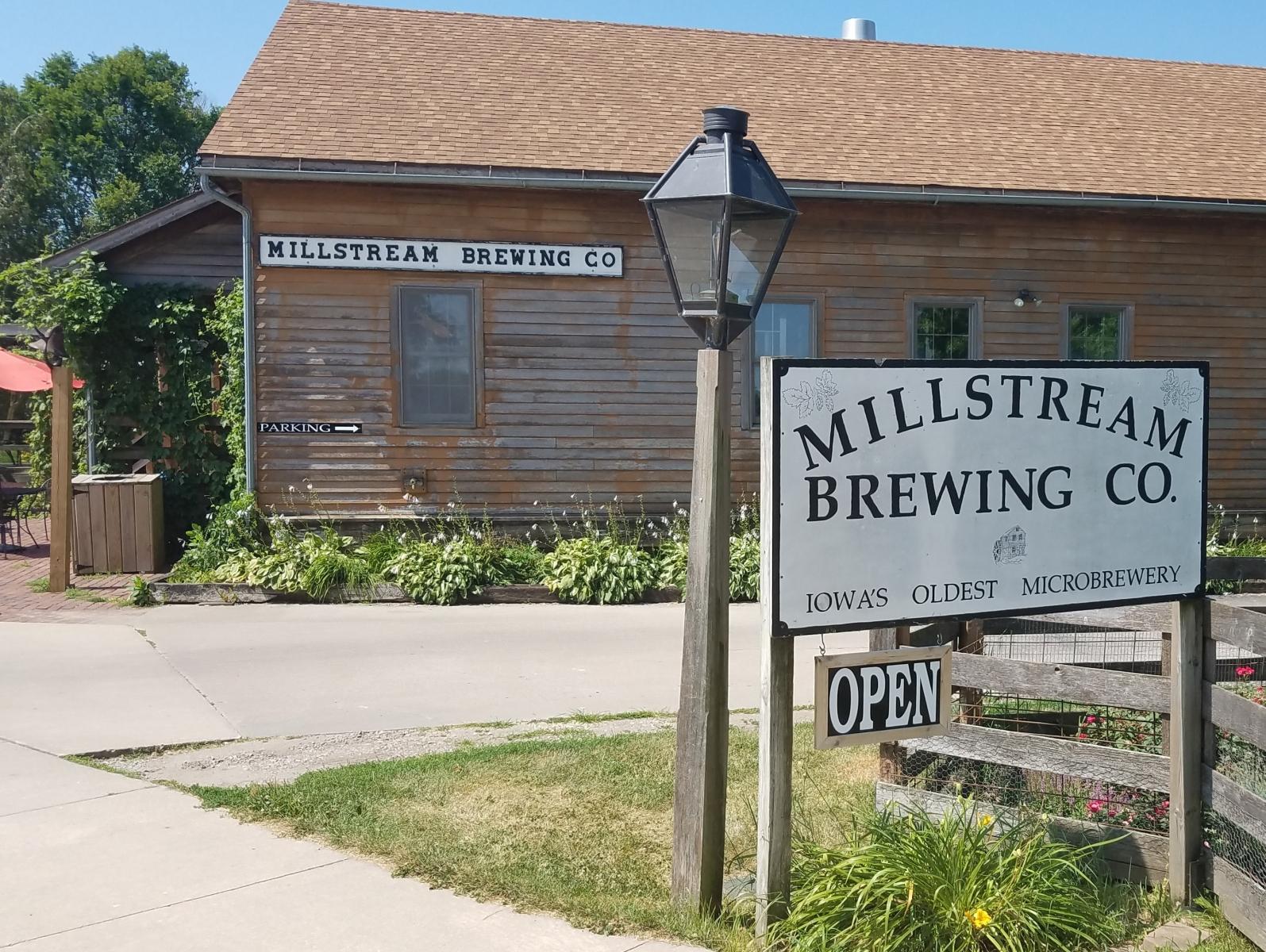 Millstream sign at driveway