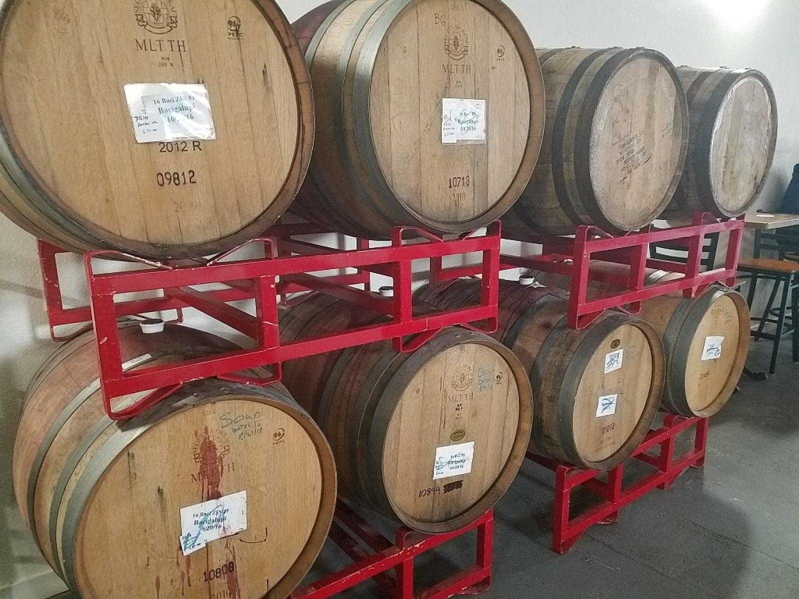 Barrel aging rack
