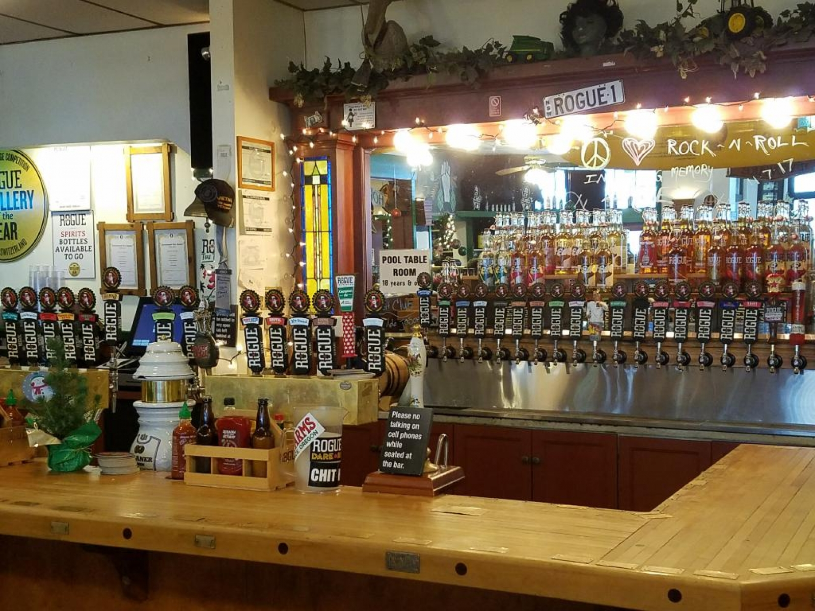 Taps & Spirits behind the bar