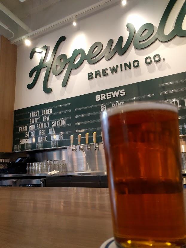 The Hopewell back bar