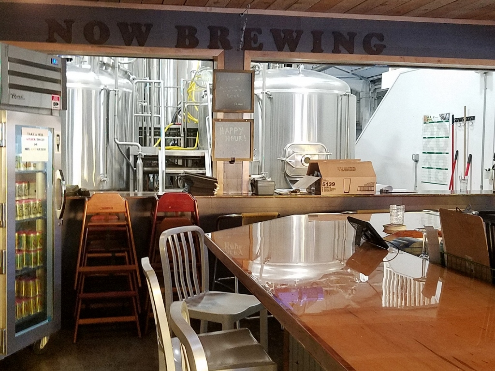 Take-Home Cooler and Brew Room viewing